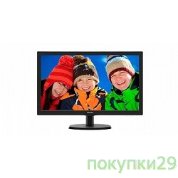 "Монитор LCD PHILIPS 21.5""223V5LSB2/10(62) Black (LED, LCD, Wide, 1920x1080, 5 ms, 90°/65°, 200 cd/m, 10M:1)"