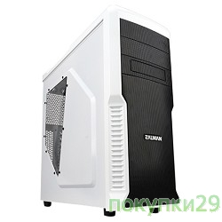 Корпус MidiTower Zalman Z3 Plus (без БП) белый