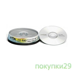 Диск TDK CD-R 700MB 52x SJC (10шт) (t18765) CD-R80SCA10-L